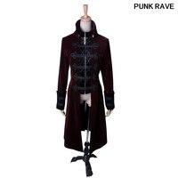Streampunk Готический вышивка на металлической молнии женские тонкий длинный жакет модные черные военные Косплэй наряд пальто Панк rave Y 401