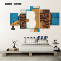 Home Decor Picasso Abstract Painting Wall Art Canvas Bedding Poster Modern 5 Piece Oil Painting Picture