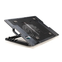 External Dual USB Blue LED Stand Cooling Pad Notebook Laptop Fan Air Cooler Cooling Pad Holder
