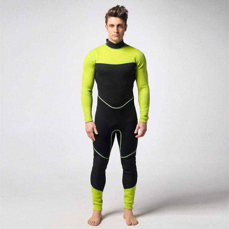 Spearfishing Piece Wetsuit 3MM Neoprene Scuba Surf Suit Snorkeling suit Black Green Triathlon Anti-UV clothing Fishing Wetsuits cheap monday джинсовая верхняя одежда