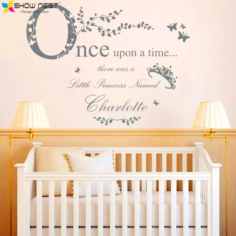 Quot Once Upon A Time Princess Quot Vinyl Wall Stickers Home