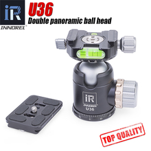 INNOREL-U36 panoramic tripod & monopod ball head with quick release plate for 720 degree shooting bearing 20KG Nikon Canon