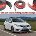 Car Bumper Lip Deflector Lips For Nissan Pulsar C13 2014 2015 / Front Spoiler Skirt / skirts / Body Kit / Strip / Thick lips