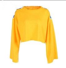 d4d98c9cb65 Women 2017 Autumn Fashion Checkerboard Cropped Sweatshirt Knitted Yellow Long  Sleeve Crop Top Moletom Feminino Hoodies