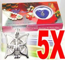 Популярный подарок оптовая продажа 5 разных кулонов жемчужное