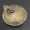 6 UNIDS 48*45mm Estilo Antiguo Tono de Bronce Antiguo Redondo En Forma de Aleación De Los Colgantes Del Encanto Joyería Artesanía de Accesorios Finding Charms (01744)
