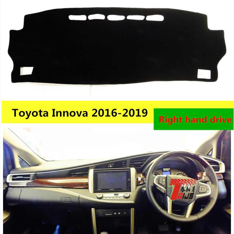 TAIJS couverture de tapis de tableau de bord de voiture de protection pour Toyota Innova 2016-2019
