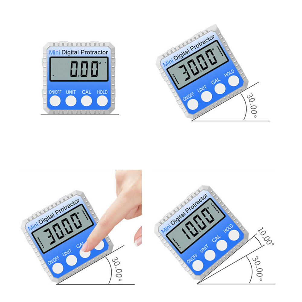 Image 5 - 360 Degree Mini Digital Inclinometer Level Electronic Protractor Angle Ruler Measurment Gauge Meter Finder with Magnet Hot Sale-in Protractors from Tools