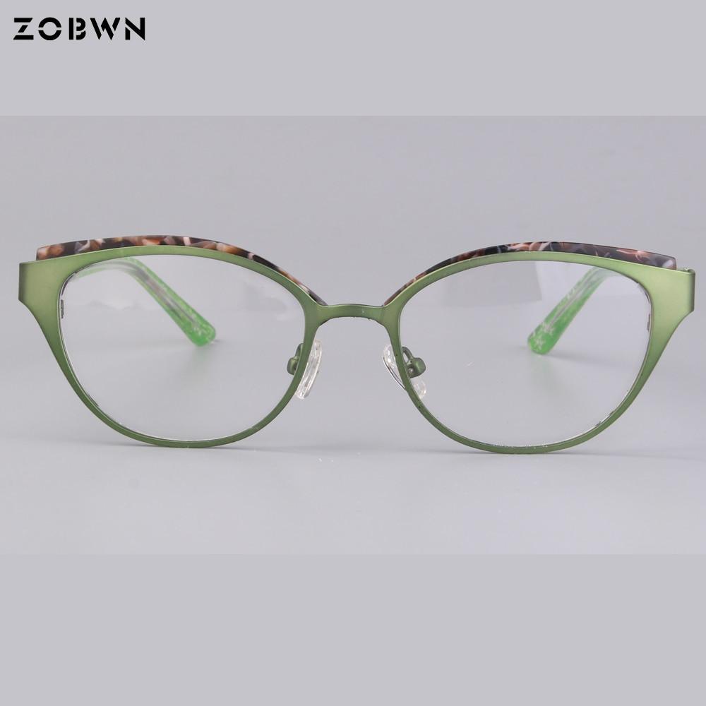 Eye Frauen Hohe Halb Qualität Vintage Computer Gläser Brillen Schwarz Rot Metall Großhandel Brille Plain Rand Mix Cat wPqS0xT