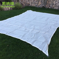 HDPE with9 5% UV protection 5 x 5 M/pcs Square Shade Sail in Arc edge D rings style with free ropes used as garden gazebo