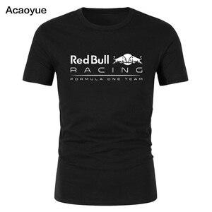 شحن سريع 2018 القطن ماكس Verstappen T قميص للرجال صيغة 1 طباعة الجرافيك قصيرة الأكمام تيز قمصان الرجال F1 المشجعين قمم