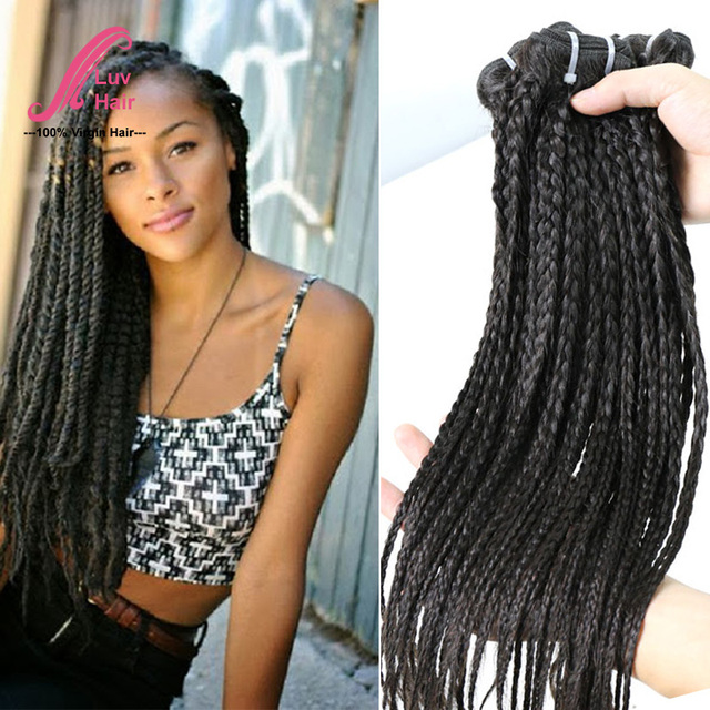 Virgin brazilian braided human hair straight bundles crochet braid virgin brazilian braided human hair straight bundles crochet braid hair twist lady hair for african american pmusecretfo Image collections