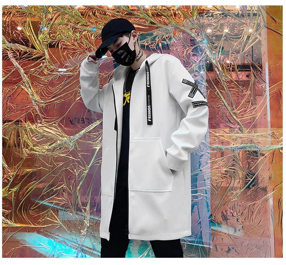 HTB16TMnKYPpK1RjSZFFq6y5PpXa1 Long Jacket Men Print Fashion 2019 Spring Harajuku Windbreaker Overcoat Male Casual Outwear Hip Hop Streetwear Coats WG198