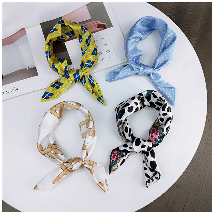 HTB16TMobojrK1RkHFNRq6ySvpXaU - fashion Square Scarf Hair Tie Band Party Women Elegant Small Vintage Skinny Retro Head Neck Silk Satin Scarf, square scarves