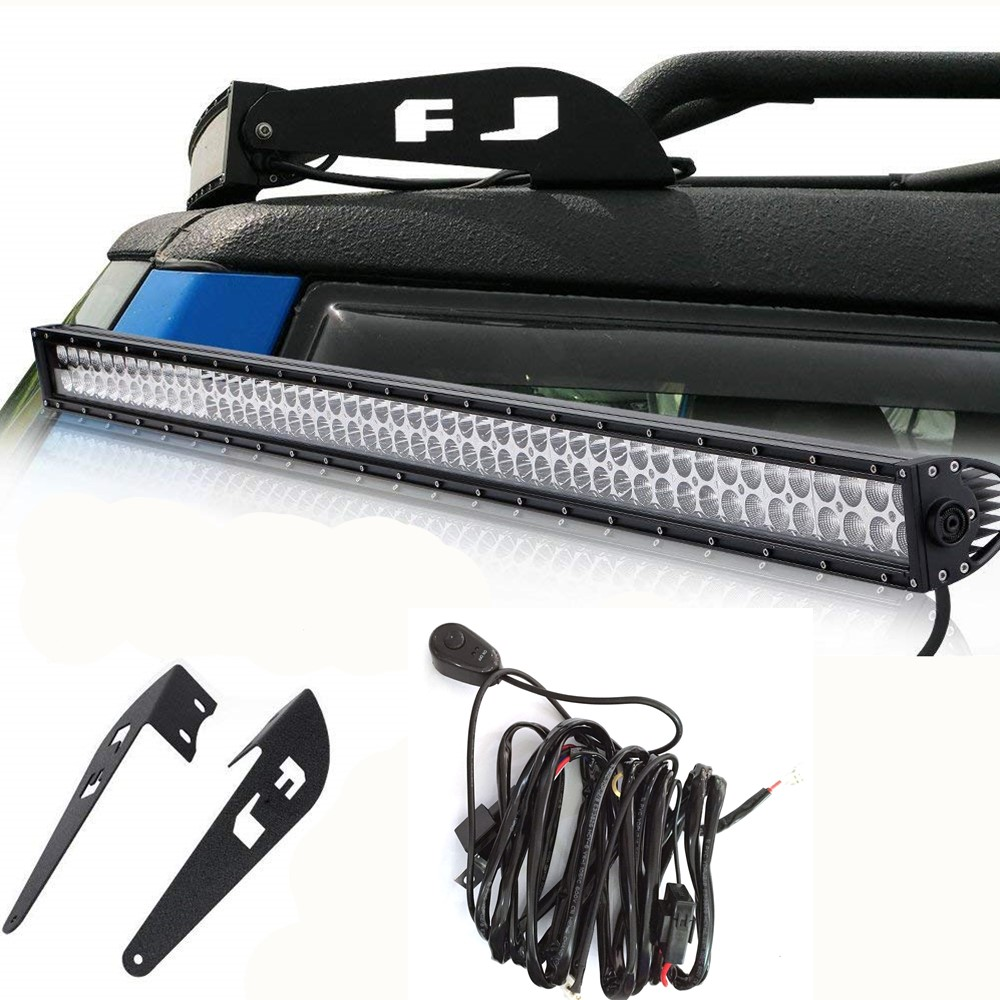 For 2007 2014 Toyota FJ Cruiser 52 300W LED Work Light Bar With Roof Upper Mount Brackets Free Wire Harness Kit