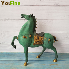 Bronze horse small pieces sculpture home decoration display wedding gifts housewarming opening lucky copper ornaments