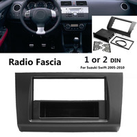 Car Stereo Radio Fascia Panel Plate Frame 1 or 2 Din DVD Panel Audio Dash Mount Kit Adapter for Suzuki Swift 2005 2010