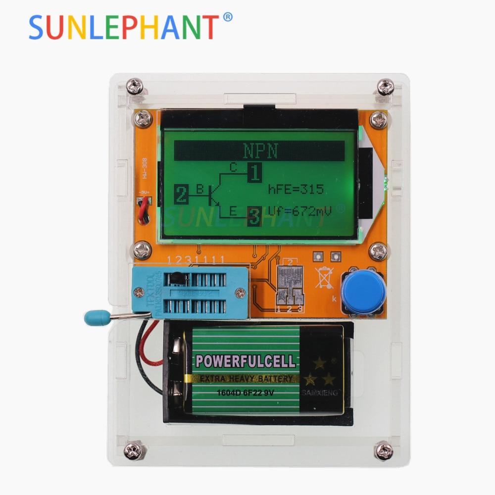 LCD Digital Transistor Tester Meter LCR-T4 Backlight Diode Triode Capacitance ESR Meter For MOSFET/JFET/PNP/NPN L/C/R LCD Digital Transistor Tester Meter LCR-T4 Backlight Diode Triode Capacitance ESR Meter For MOSFET/JFET/PNP/NPN L/C/R