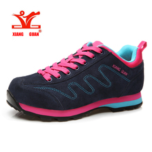 XIANGGUAN Running Shoes Genuine Leather Cow Shoes ladies Sport Breathable Jogging Walking woman Trainers suede sneakers SIZE 36-39