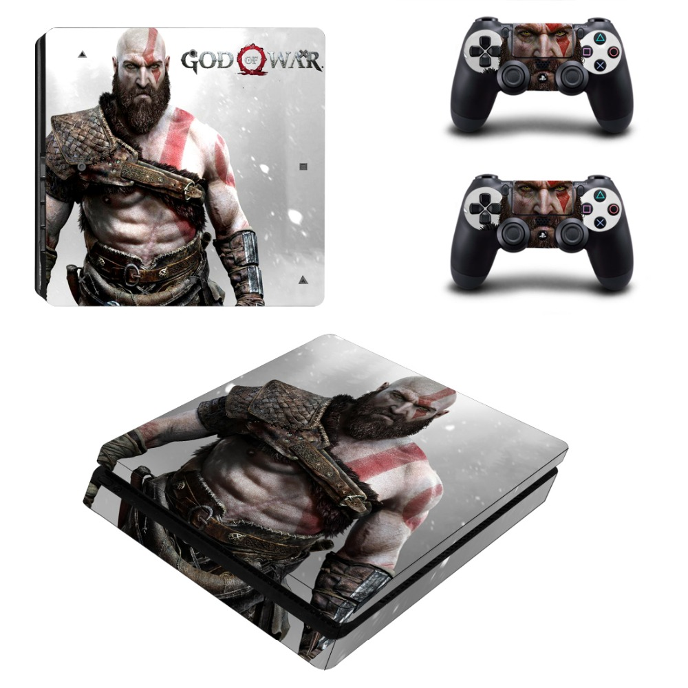 God of War Skins for Playstation 4 PS4 Slim Console Skin Stickers 2pcs Controller Vinyl Decals Protector Film image