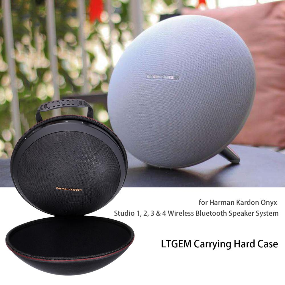 LTGEM Case For Harman Kardon Onyx Studio 1, 2, 3 & 4 Wireless Bluetooth Speaker System. Fits Rechargeable Battery (Black)