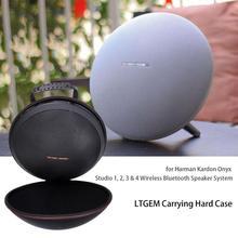 LTGEM funda para Harman Kardon Onyx Studio 1, 2, 3 y 4 sistema inalámbrico de altavoces Bluetooth. Se adapta a la batería recargable (negro)