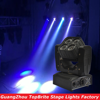 Free Shipping 60W Led Moving Head Beam Effect Light 4x15W Super Beam Wash Mini Lighting DJ Disco Stage Laser Lights 100 240V