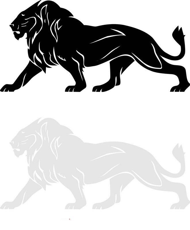 Animasi Singa Hitam Putih