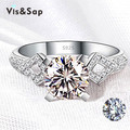 White gold plated AAA CZ diamond ring vintage jewelry Wedding rings gifts fashion Jewelry Brand design high quality VSR050