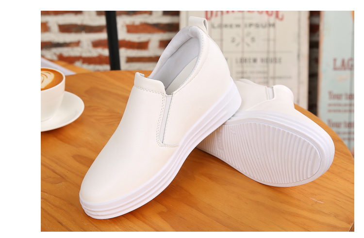 Wedge Leather Casual Shoes Woman Platform Shoes 2017 Spring New Simple Height Increasing Women Shoes Round Toe Ladies Shoes ZD48 (17)