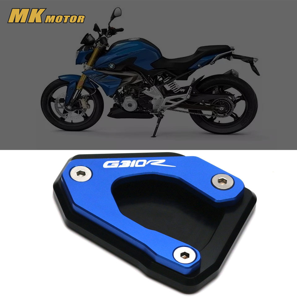 Motorcycle For BMW G310R G 310R G310 R 2017-2018  CNC Kickstand Side Stand Enlarger Extension Plate Pad