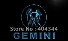 LK449- Gemini ZODIAC Astrology Bar Beer LED Neon Light Sign home decor crafts(China)
