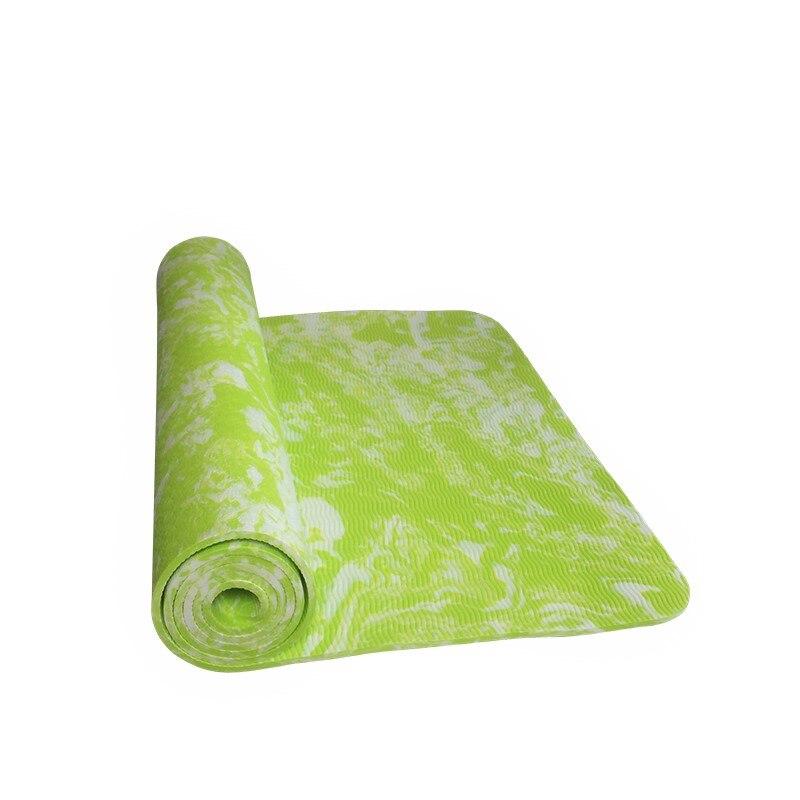 New Design TPE 6 mm Non-Slip Yoga Mat Exercise Fitness Mat Lose Weight Eco-friendly TPE Yoga Mat 185*62*0.6 cm Body Building 1