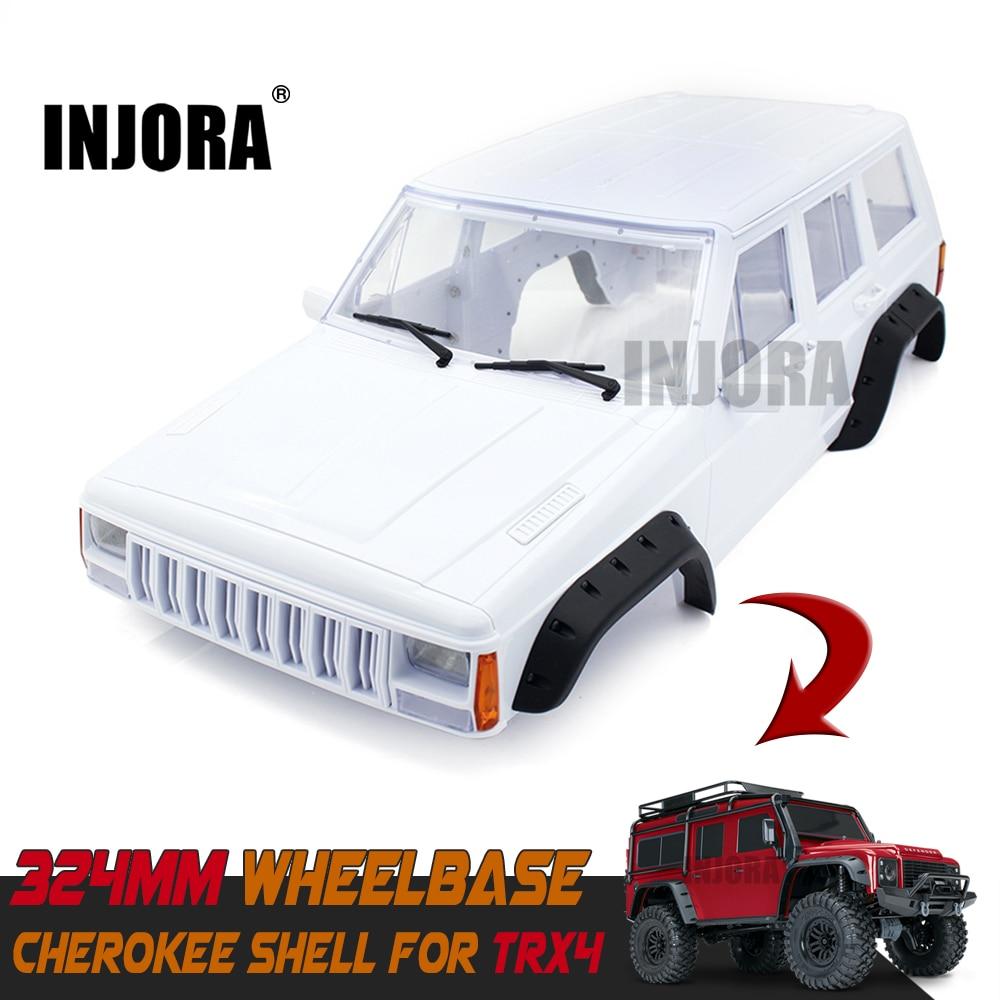 Hard Plastic TRX4 12.8inch 324mm Wheelbase Cherokee Body Car Shell for 1/10 RC Crawler Traxxas TRX-4