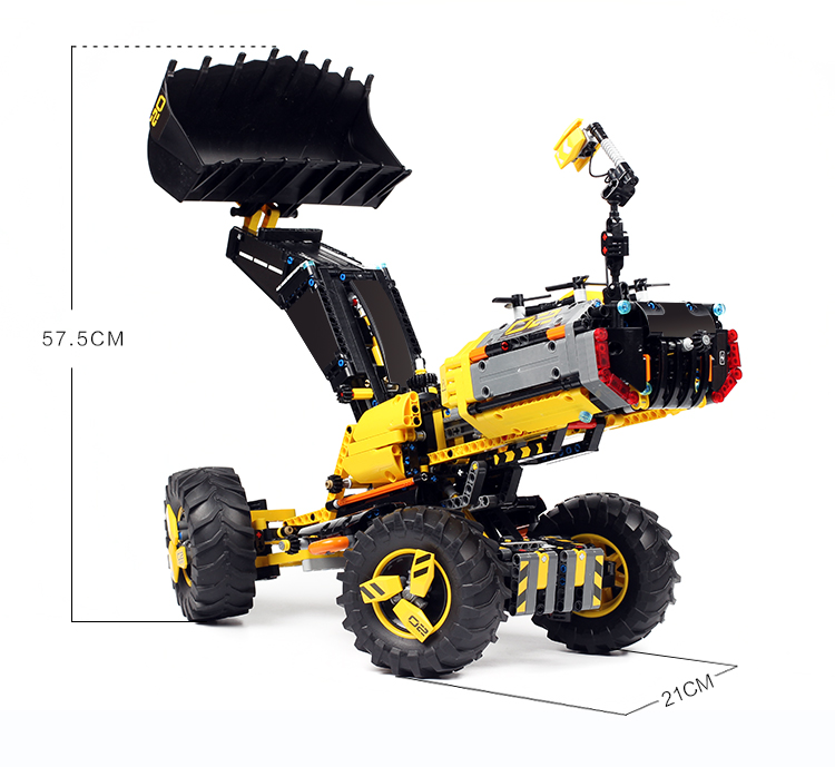 Image 4 - DECOOL TECHNIC 3380 2IN1 Volvo Wheel Loader ZEUX Model Building Blocks Bricks Toys for children GIFTS compatible legoly 42081-in Blocks from Toys & Hobbies