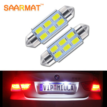 2Pcs C5W 39mm Canbus Error Free License Number Plate Light LED Bulbs For BMW 3 5 series E36 E46 E34 E39 E60 X5 E53(00-07) M5 image