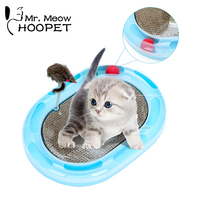 Hoopet Cat Scratch Board Claws Care Interactive Toy Cat Corrugated Scratch Training Rat Toy