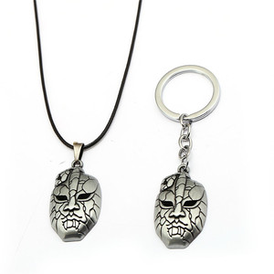JOJOS BIZARRE ADVENTURE Keychain DIO Mask Pendant Metal Key Ring Holder Men Car Women Bag Key Chain Chaveiro Anime Jewelry(China)