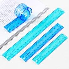 Réguas flexibale, plástico macio, Polegada es e métrico para escola e escritório, 30 cm/12 Polegada, 20 cm/8 Polegada, 15 cm/6 Polegada