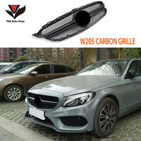 W205 Carbon Fiber AMG Style Front Mesh Racing Grill Grille for Mercedes Benz W205 New C class C180 C200 C220d C250 C260 C400
