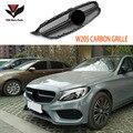 W205 углеродное волокно AMG СТИЛЬ передняя сетка гоночный гриль решетка для Mercedes-Benz W205 Новый c-класс C180 C200 C220d C250 C260 C400