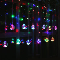 2.5M 220V EU Plug Christmas LED Wish Ball Lighs Indoor Birthday Surprise Wedding Decoration light For Party Holiday Lighting