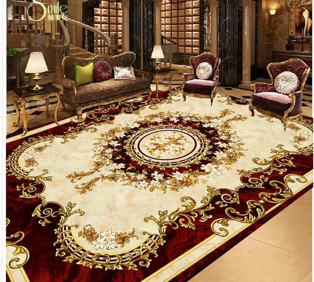 Europaischen Stil Teppich Pvc Boden Tapete Badezimmer Boden Tapete