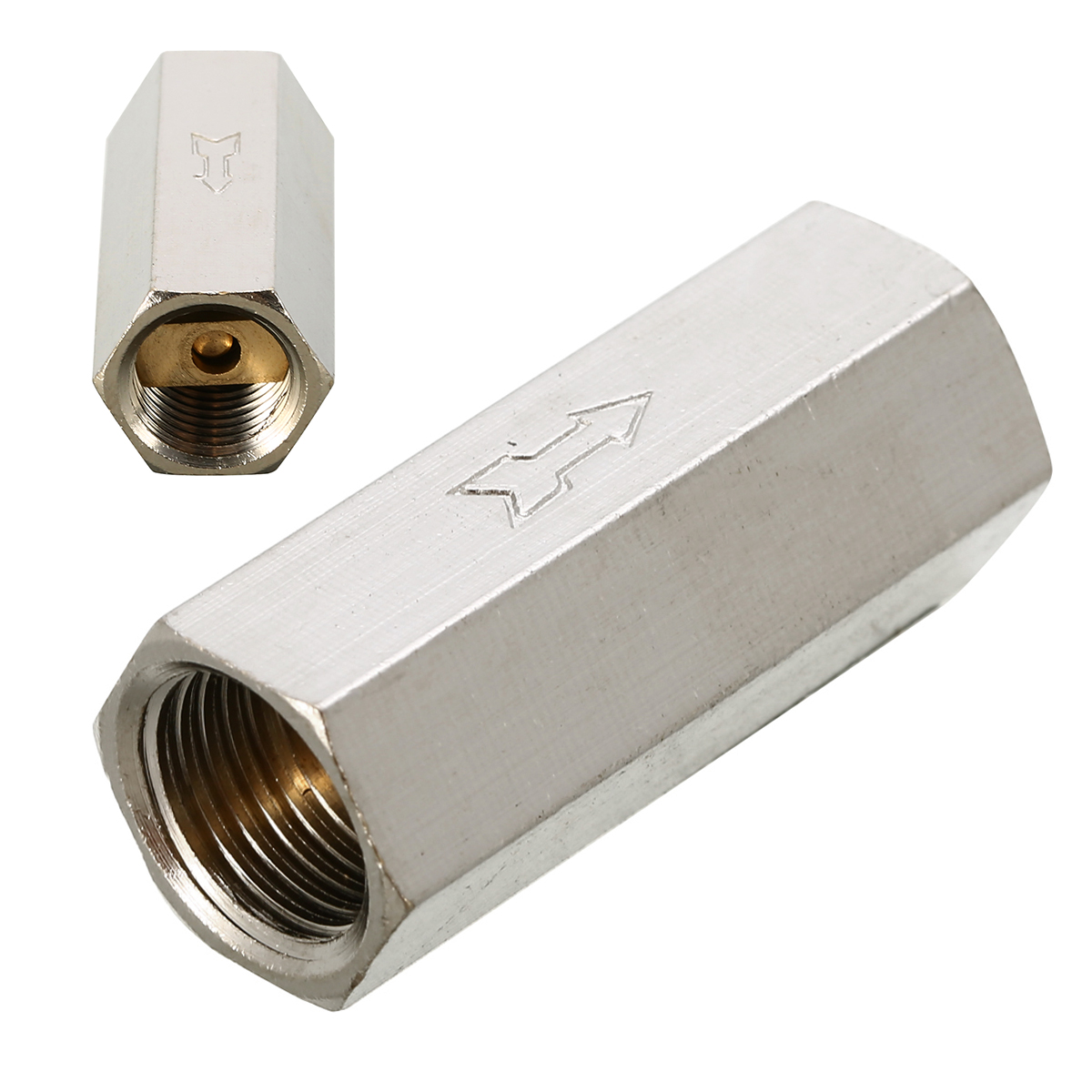 1pc Brass Air Check Valve 1/4