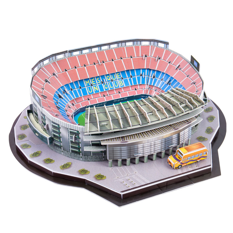3D three-dimensional Puzzle World  Football Stadium children's Puzzle DIY spell insert Toy Learning Educational Games Toys