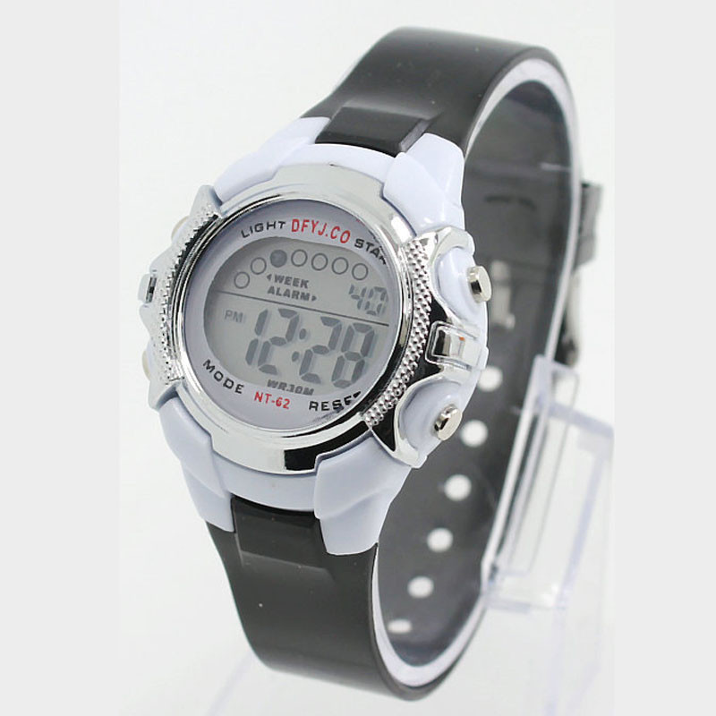 Multifunction Waterproof Children Fashion Watch Red Led Boy Girl Electricity Supplier Electronic Student Watches *A