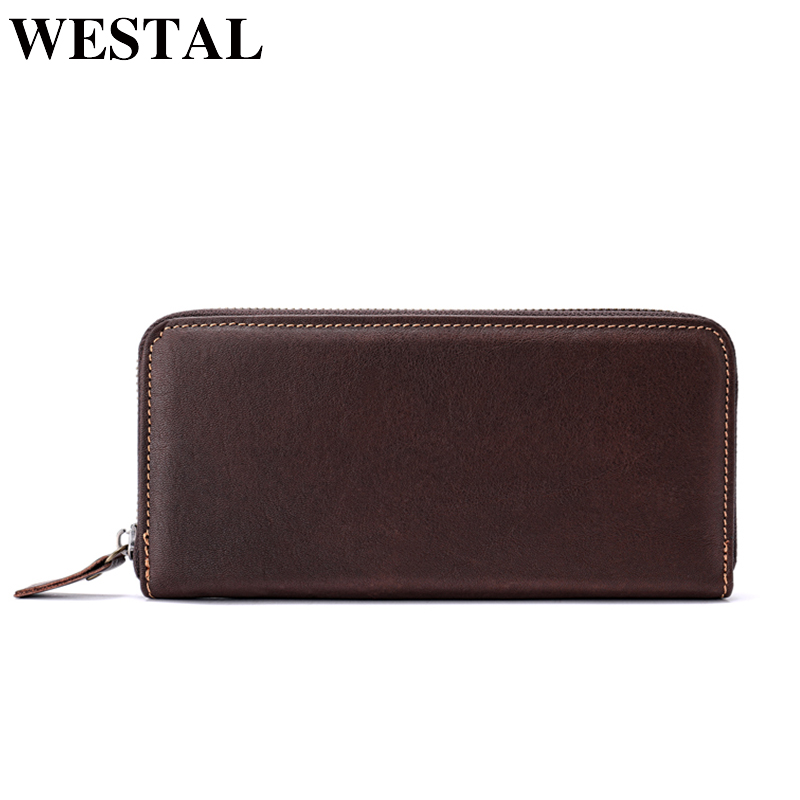 717f75176a79 WESTAL Wallet Male Genuine Leather Men s Wallets for Credit Card Holder  Clutch Male bags Coin Purse Men Genuine leather 7016