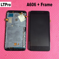 100 Guarantee Black LCD Touch Screen Panel Digitizer Assembly Frame For Lenovo A606 Smart Phone Sensor