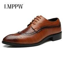 Big Size 48 Men Brogues Shoes Men's Oxfords Casual Leather Shoes Zapatos Classic Pointed Toe Men Dress Shoes Men Flats Fashion цена 2017