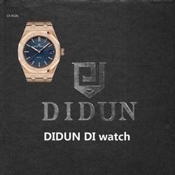 DIDUN Men Watches  Top Brand Luxury Quartz Watch Rosegold Male Fashion Business Watch Shockproof 30m Waterproof Wristwatch
